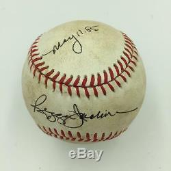 Reggie Jackson May 11, 1985 Signed Game Used American League Baseball PSA DNA
