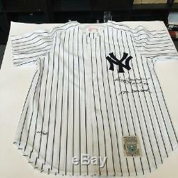 Reggie Jackson Mr October HOF'93 Signed Inscribed Yankees Jersey Upper Deck COA