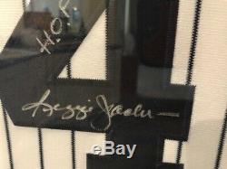 Reggie Jackson Mr. October Yankees Autographed Jersey Professionally Framed