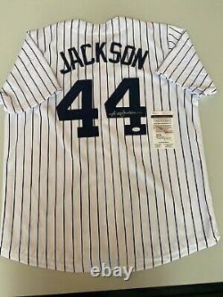Reggie Jackson New York Yankees Autographed Jersey JSA free Shipping