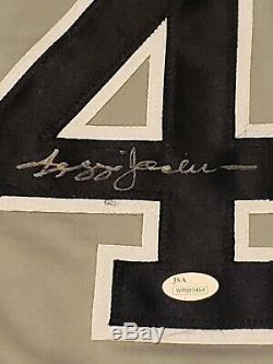 Reggie Jackson New York Yankees Signed Custom Stat Jersey JSA Witnessed COA