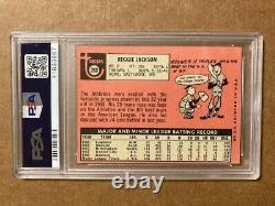 Reggie Jackson Signed 1969 Topps Rookie Card RC PSA/DNA