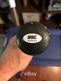 Reggie Jackson Signed Auto Autograph Bat MLB SGC HOF Yankees Black Pro Stick