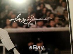 Reggie Jackson Signed Framed Matted Autographed 16 x 20! JSA COA! Yankee Great