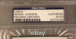 Reggie Jackson Signed Personal Check (New York Yankees) PSA/DNA Mr. October