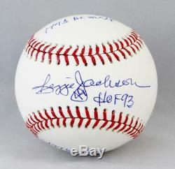 Reggie Jackson Signed Rawlings OML Baseball With HOF/AL MVP/WS MVP- JSA W Auth