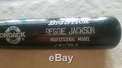 Reggie Jackson autographed bat withLOA #151 of 563
