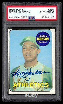 Reggie Jackson signed 1969 Topps Rookie PSA/DNA Authentic Autograph