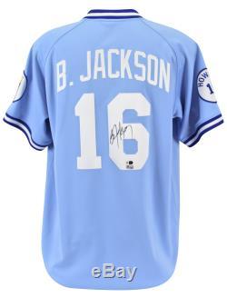 Royals Bo Jackson Authentic Signed Blue Mitchell & Ness Jersey MLB & Fanatics 2