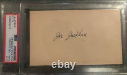 SHOELESS JOE JACKSON Signed Index Card Cut By Mrs Joe Jackson Encapsulated PSA