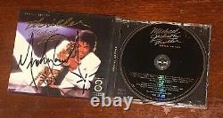 SIGNED Thriller cd bad off wall invincible Michael Jackson MJ Five Dangerous