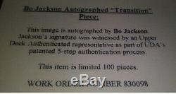 SUPER RARE Bo Jackson LE 100 UDA Transition Signed Framed Photo Raiders Royals