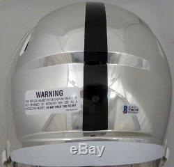 Sale! Bo Jackson Autographed Raiders Chrome Full Size Speed Helmet Beckett
