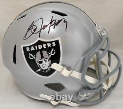 Sale! Bo Jackson Autographed Raiders Full Size Speed Replica Helmet Beckett