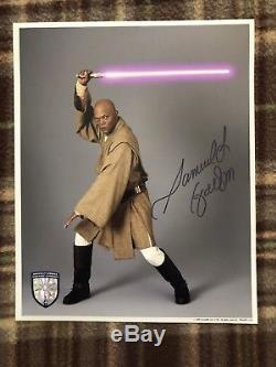 Samuel L Jackson Signed 8x10 Autograph Coa Star Wars Mace Windu Official Pix