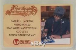 Samuel L. Jackson Signed Cgc Ss 9.8 Mace Windu #1 Action Figure Variant