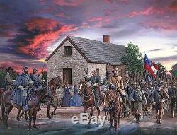 Scarlet Sky John Paul Strain Civil War A/P Giclee Print Stonewall Jackson