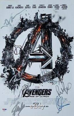 Scarlett Johansson Samuel L Jackson Stan Lee Signed 12x18 PSA DNA Avengers