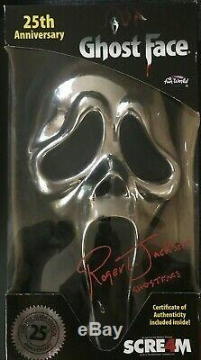 Scream 25th Anniversary Ghostface Mask SIGNED by Roger Jackson