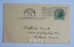 Shoeless Joe Jackson Autographed Postcard dated 1940