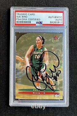 Signed 2003 Wnba Ultra Fleer Sue Bird Lauren Jackson Seattle Storm Psa/dna Auto