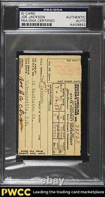 Signed Autographed Shoeless Joe Jackson ID Card AUTO, PSA/DNA Auth
