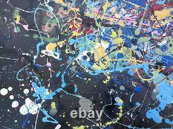 Signed Jackson Pollock American Abstract Expressionist Oil Painting