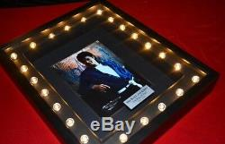 Signed MICHAEL JACKSON Autograph, COA, UACC RD#228 ICONOGRAPH, Lighted FRAME DVD