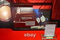 Signed MICHAEL JACKSON Autograph LETTER, Global Authentics COA, UACC, FRAME, DVD