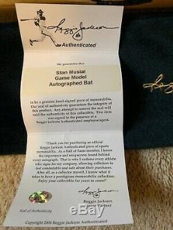 Stan Musial Autographed Signed Game Model Baseball Bat Reggie Jackson Certified