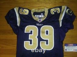 Stephen Jackson Signed 2009 Rams Team / Game Issued Football Jersey Nfl/psa Coa