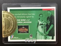 Sue Bird Lauren Jackson WNBA 2005 Rittenhouse On Card Dual Auto Signed Autograph