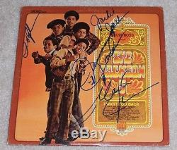 THE JACKSON 5 GROUP SIGNED ALBUM X4 JACKIE TITO MARLON JERMAINE VINYL WithCOA FIVE