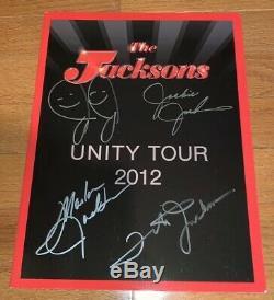 The Jacksons Jackson 5 Michael Jackson Autographed Unity Tour Book