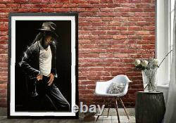 The King of Pop Michael Jackson Artist Signed Canvas Giclée Painting 40 x 30