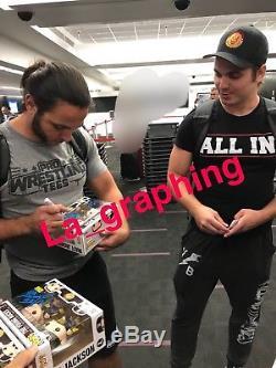 The Young Bucks Nick Matt Jackson Signed Funko Pop Exact proof bullet club NJPW