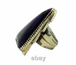Tommy Jackson, Ring, Sugilite, 14k Gold, Sterling Silver, Navajo Handmade, 8