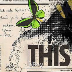 VeeBee Michael Jackson butterflies Signed art print