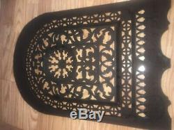 Vintage Exquisite Cast Iron Fireplace Screen Cover JL Jackson Signed